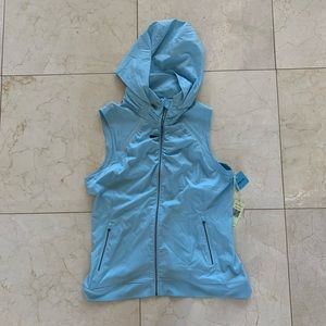 Tangerine NWT $90 Blue Hooded Vest Sz Large